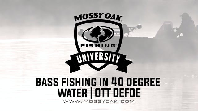 Bass Fishing in 40 Degree Water - Ott...