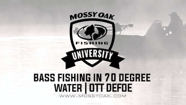 Bass Fishing in 70 Degree Water - Ott DeFoe Fishing Tips