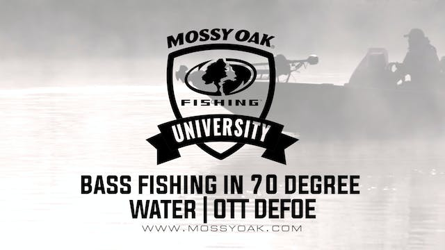 Bass Fishing in 70 Degree Water - Ott...