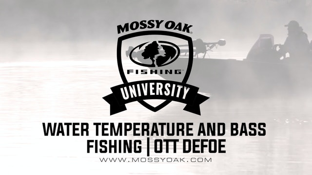 Water Temps and Bass Fishing in the Fall - Ott DeFoe Fishing Tips
