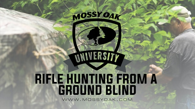 Rifle Hunting From a Ground Blind