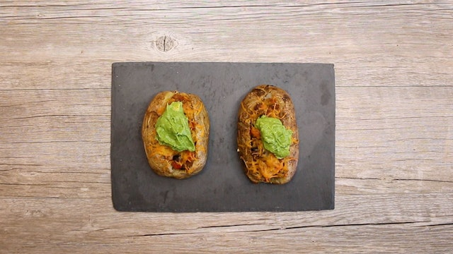 Southwestern Axis Deer Loaded Baked Potatoes • KIITK