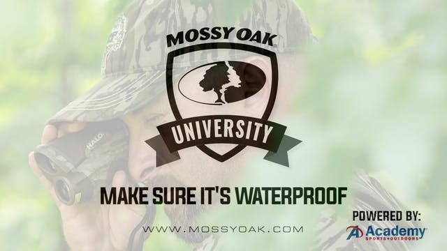 Make Sure It's Waterproof