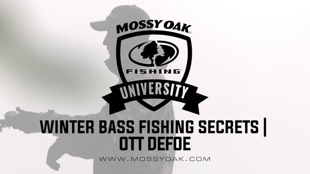 Winter Bass Fishing Secrets - Ott DeF...
