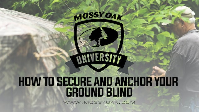 How to Secure and Anchor Your Ground Blind