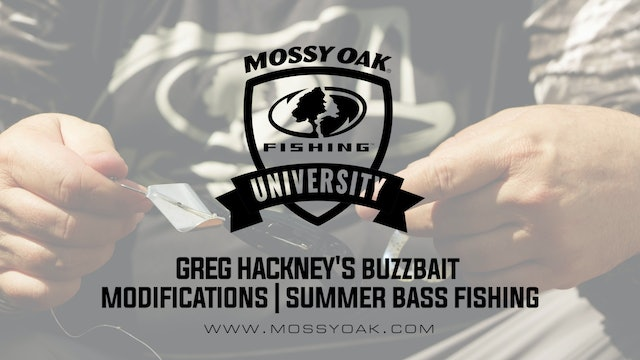 Greg Hackney's Buzzbait Modifications - Summer Bass Fishing