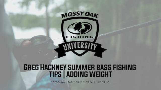 Using Heavier Baits - Greg Hackney Su...