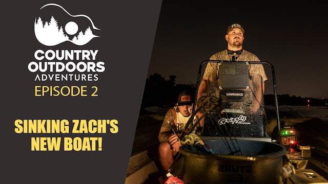 Sinking Zach's new Boat! Bowfishing for Gar • Country Outdoors Adventures