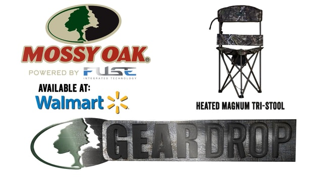 Mossy Oak Heated Magnum Tri-Stool • Gear Drop