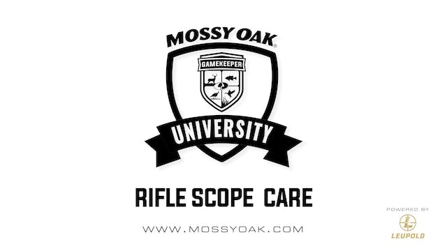 Rifle Scope Care