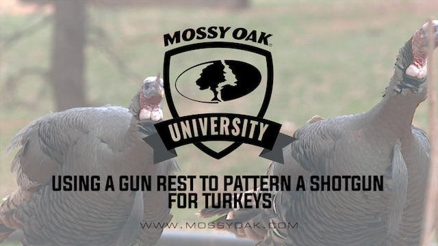 Using a Gun Rest to Pattern a Shotgun for Turkeys
