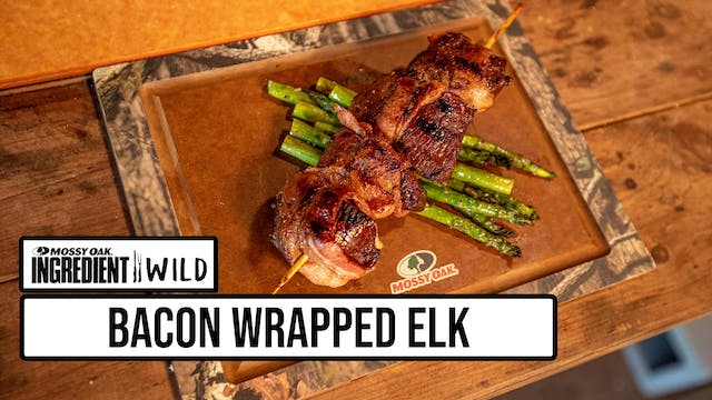 Bacon Wrapped Elk Medallions with Mal...