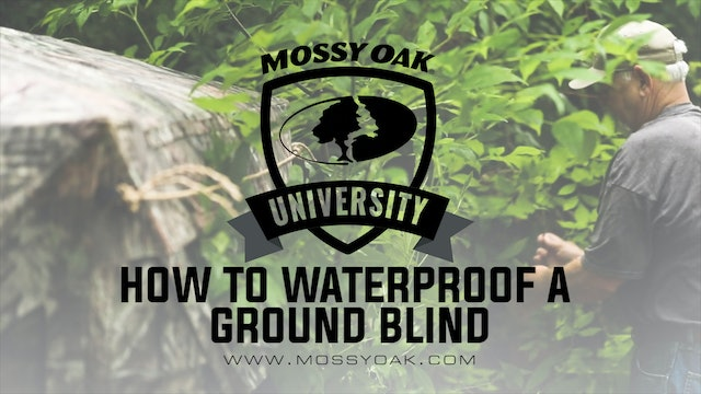 How to Waterproof a Ground Blind