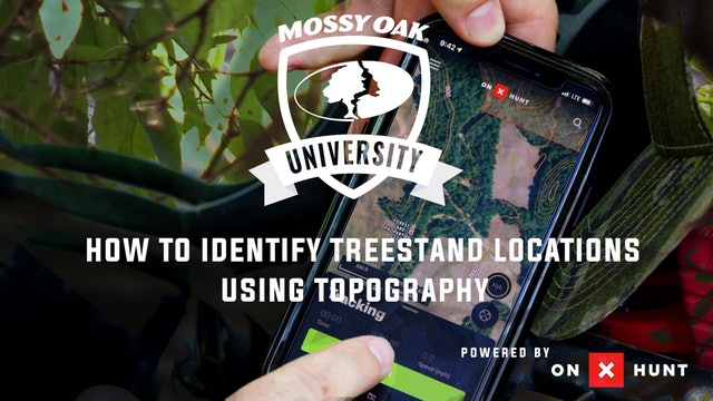 Using Topography To Locate Tree Stands | ON X Hunt App