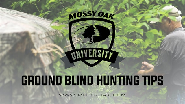 Ground Blind Hunting Tips