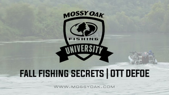 Fall Fishing Secrets - Ott DeFoe Fishing Tips