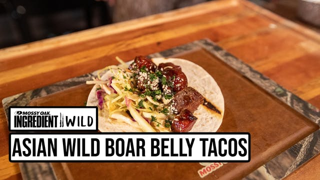 Sticky Asian Wild Boar Belly Tacos wi...