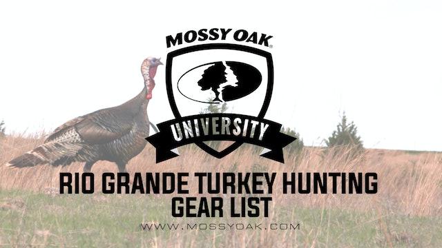 Rio Grande Turkey Hunting Gear List