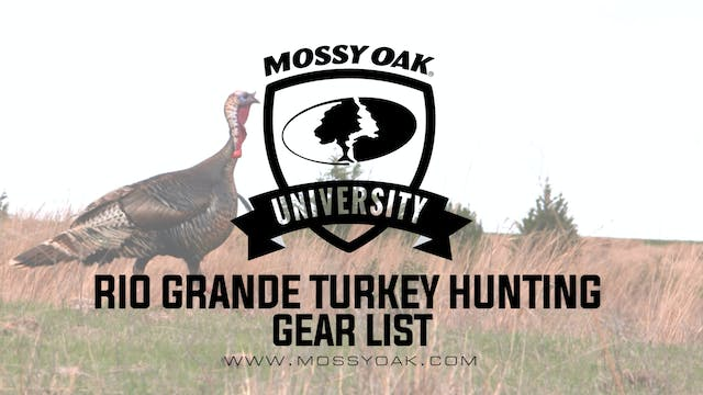Rio Grande Turkey Hunting Gear List