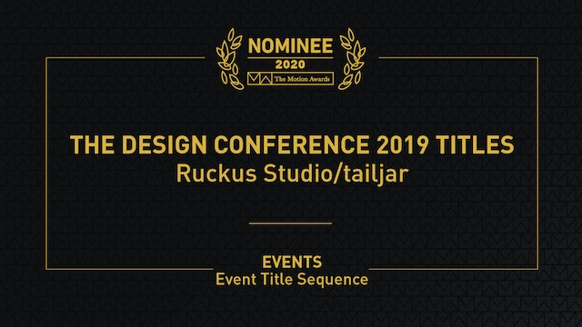 The Design Conference 2019 Titles