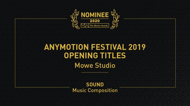 Anymotion Festival 2019 Opening Titles