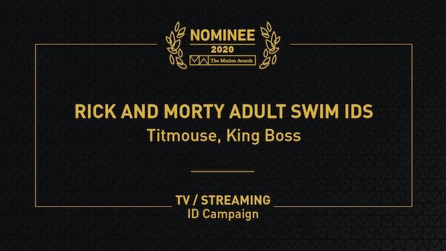 Rick and Morty Adult Swim IDs