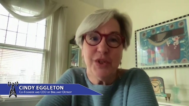 CEO of Brilliant Detroit Cindy Eggleton searches for brilliant volunteers