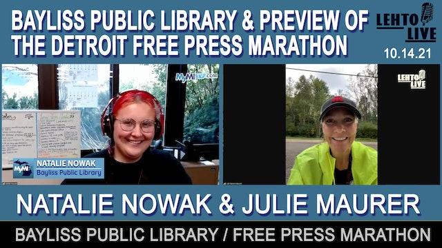 U.P. Libraries Update & 2021 Detroit Free Press Marathon Preview - Lehto Live
