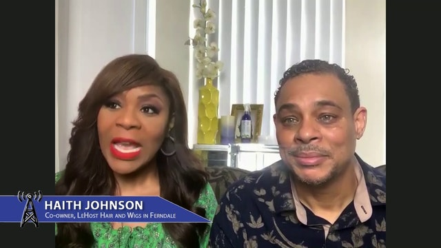 """Haith & Henry Johnson, Co-Owners, LeHost Hair & Wigs with """"Love that Works"""""""
