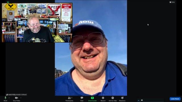 Talking across the Atlantic with Mark...
