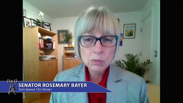 Senator Rosemary Bayer discusses budget for roads, bridges, and child care
