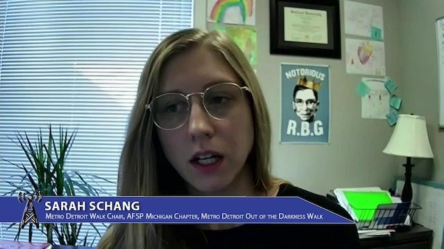 Sarah Schang, Metro Detroit Walk Chair discusses Suicide Prevention