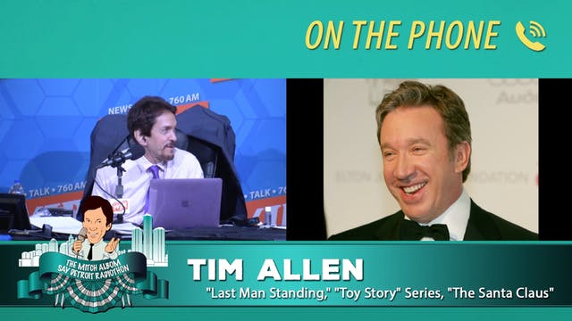 Tim Allen with Mitch Albom