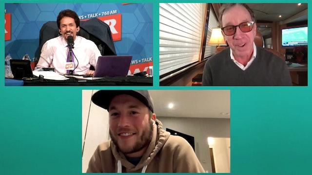 Tim Allen & Matt Stafford with Mitch Albom