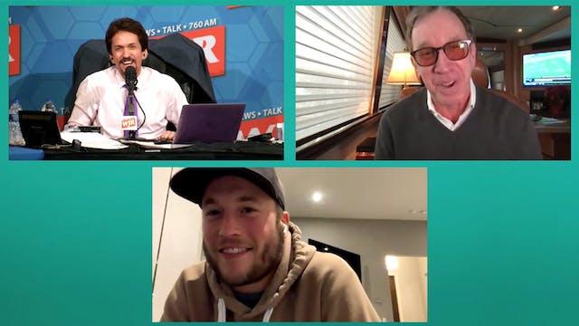 Tim Allen & Matt Stafford with Mitch ...