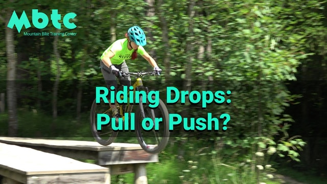 Pushing vs Pulling on drops