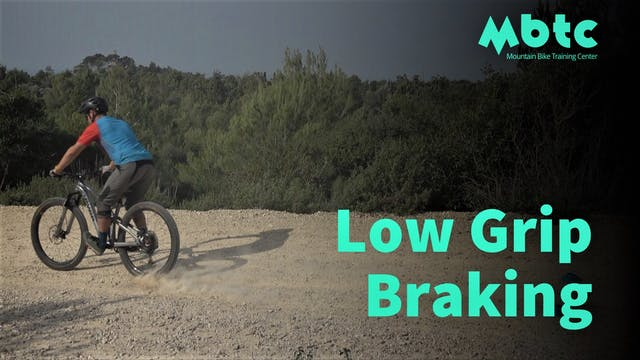 Braking on low grip conditions
