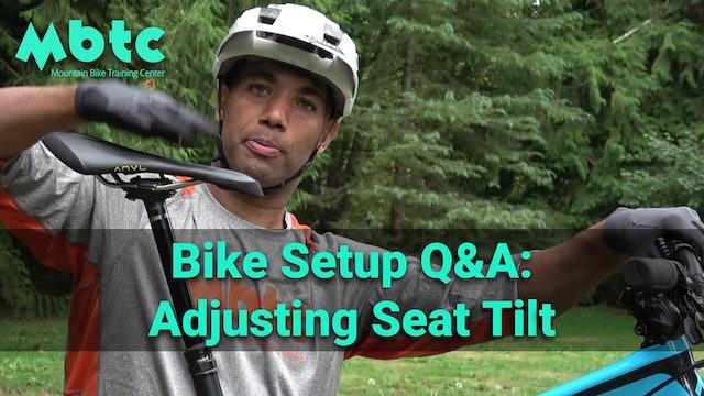 Adjusting Seat Tilt