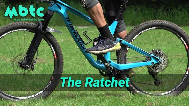 Ratchet pedaling technique