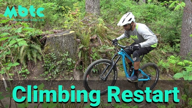 Restarting on a climb