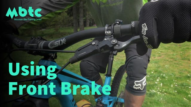 Using the front brake