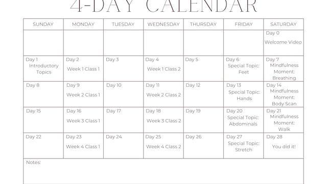 4-Day Calendar