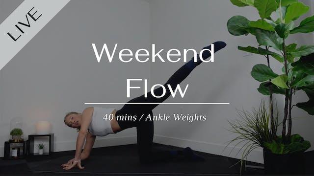 LIVE Weekend Pilates Flow 01/16