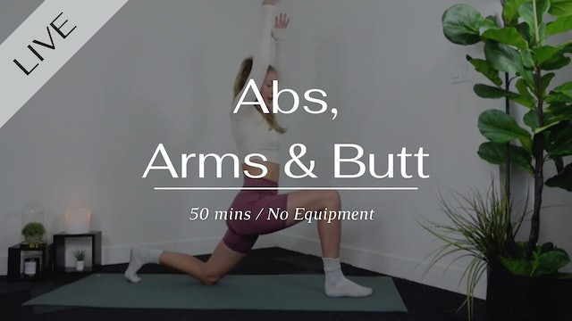 LIVE Abs, Arms & Butt 01/30/2021