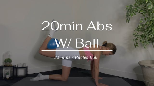 20 Min Abs With Ball