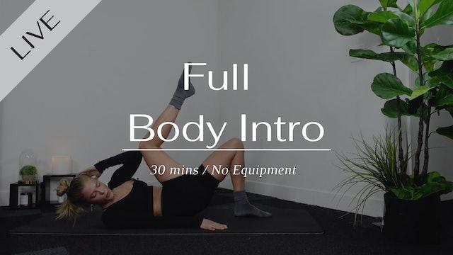 LIVE 30min Full Body Intro Class 01/09