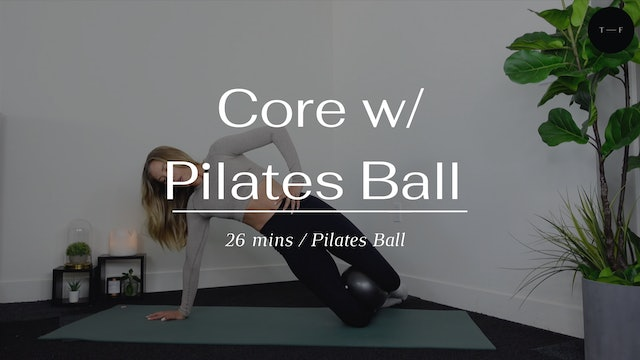 Core with the Pilates ball