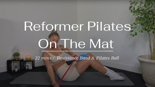 Reformer Pilates on the mat (Thursday)