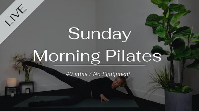 Sunday morning Pilates workout