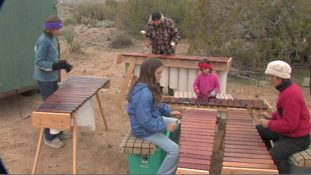 Marimba Family Players at Ghost Mountain Trail Head